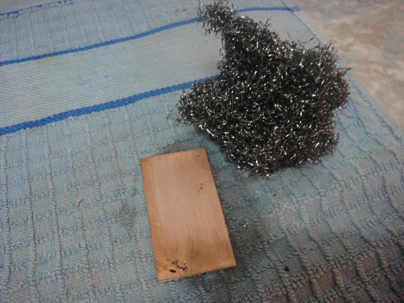 Placas circuito impreso a la plancha - Limpieza de cobre ...